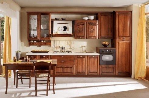 stile legno classico per cucina