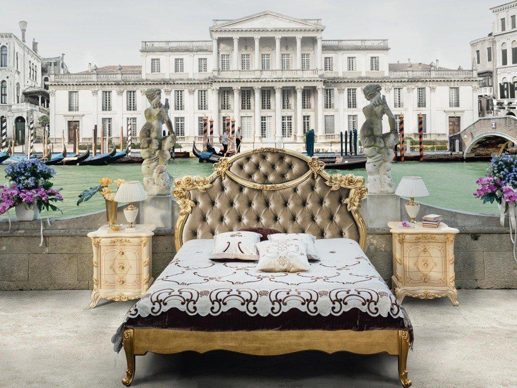 letto stile ottocentesco