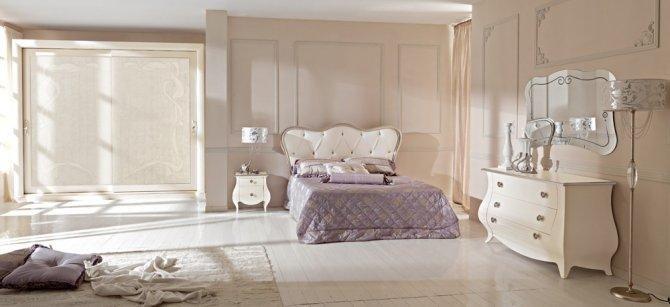 arredamento camera da letto stile classico moderno