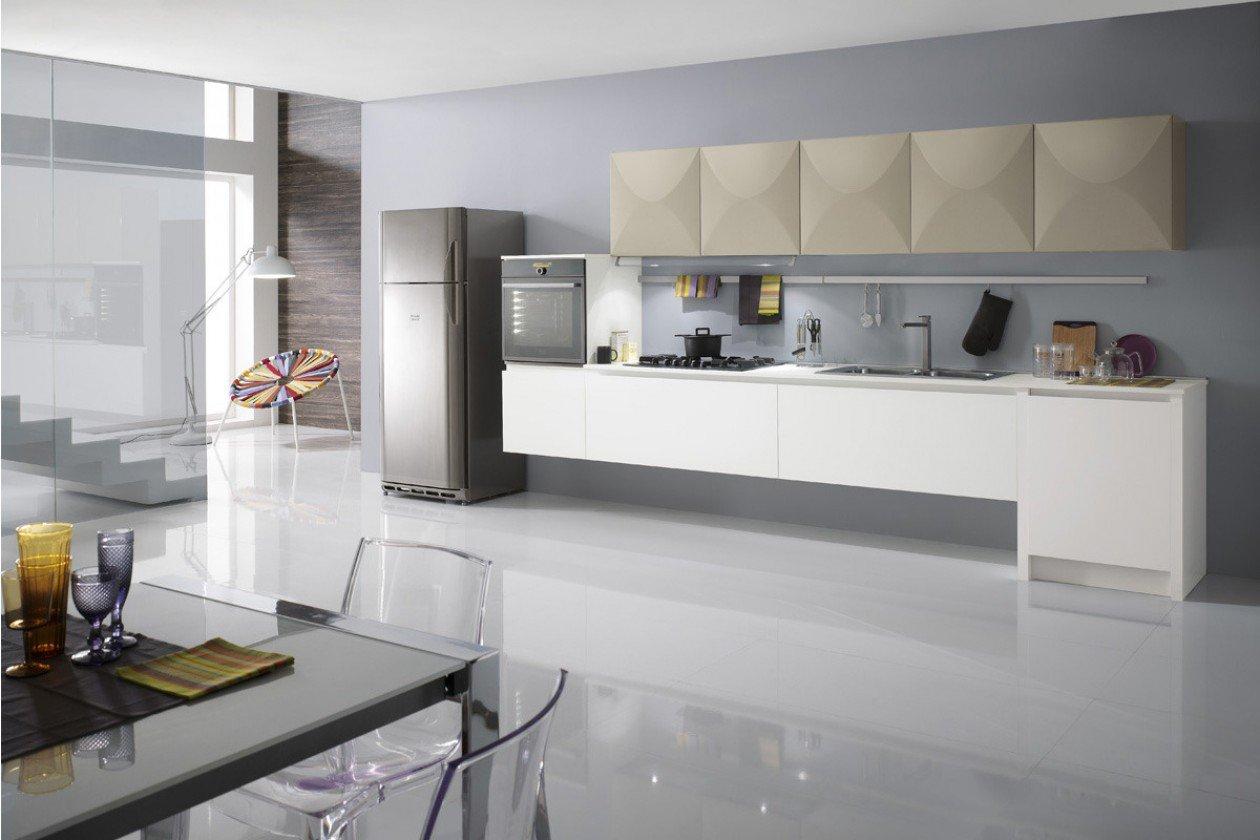 mobili con arredamento bianco