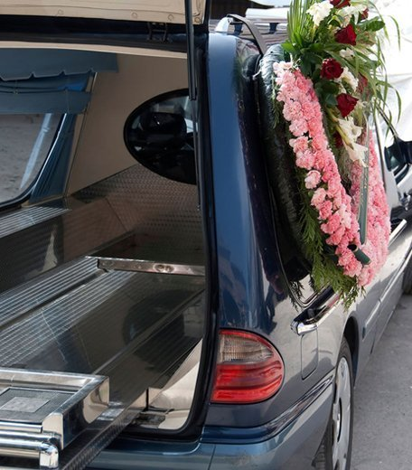 Well-equipped hearse