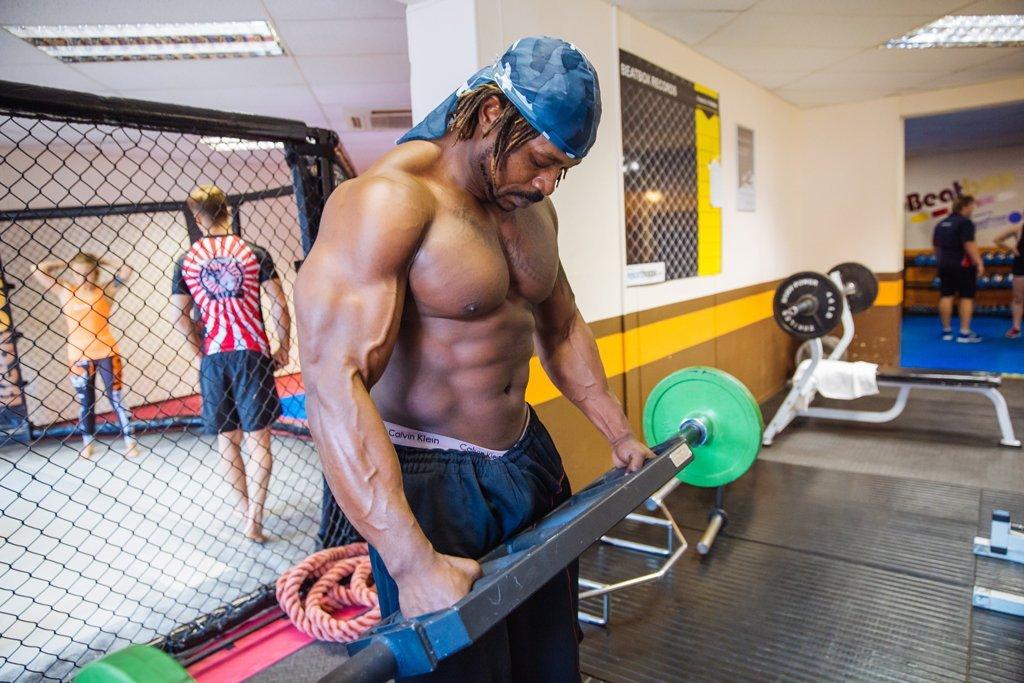 Weight lifting at Beatbox gym
