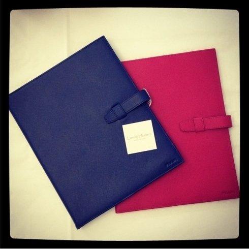 borsette colorate blu e rosa