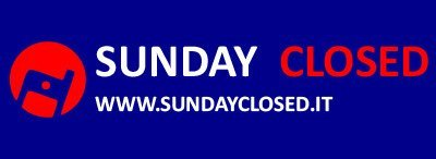 SUNDAY CLOSED  - LOGO