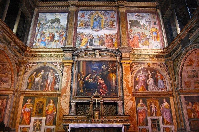 Chiesa di San Maurizio al Monastero Maggiore gli affreschi con NCC TAXI MILANO