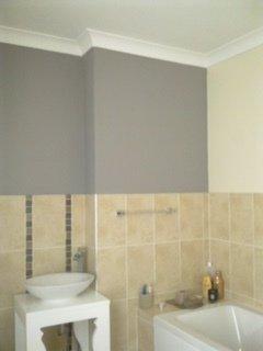 Bathroom wall decorating