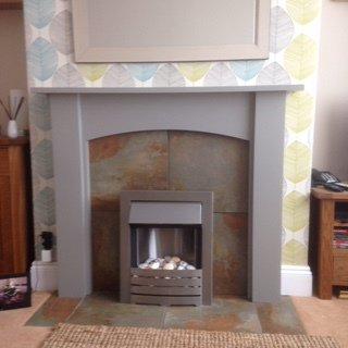 Fireplace painting