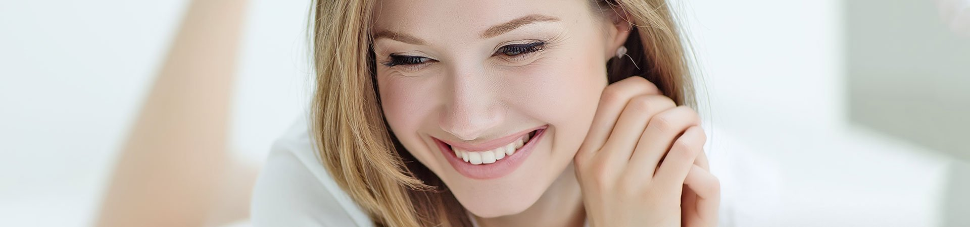 a girl with smiling face