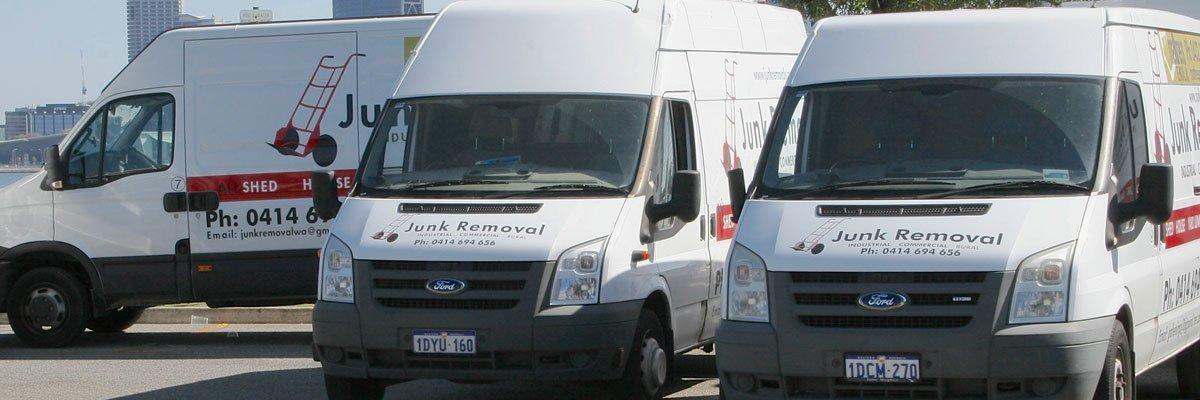 junk removal company trucks