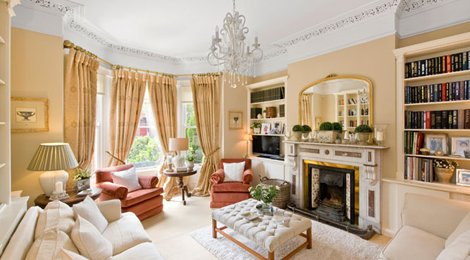 Interior of a regal sitting room