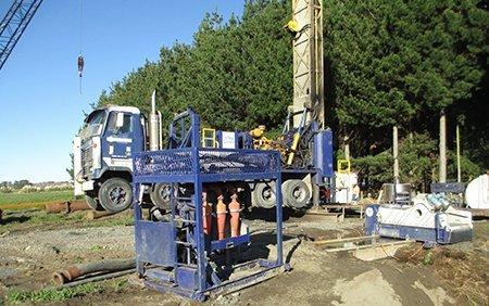 Well drilling in progress