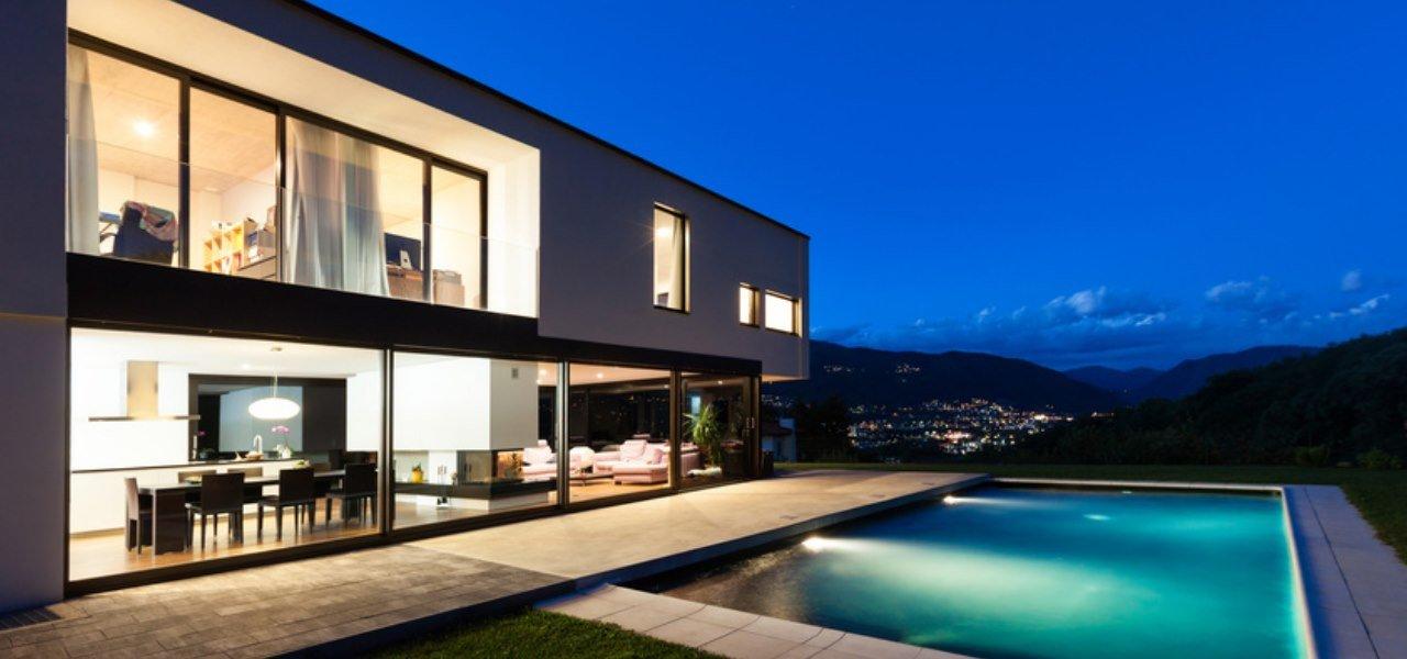 Grafik einer Villa für Smart Home & Security