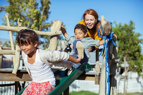 Children having fun at Maytime Montessori Nursery