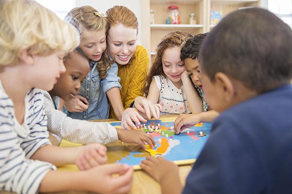 children learning at Maytime Montessori Nursery