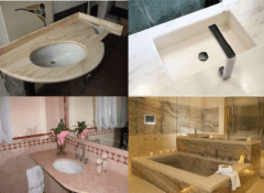 marmo, vasca, lavandino