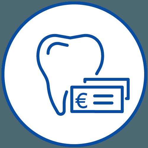icona dente e euro