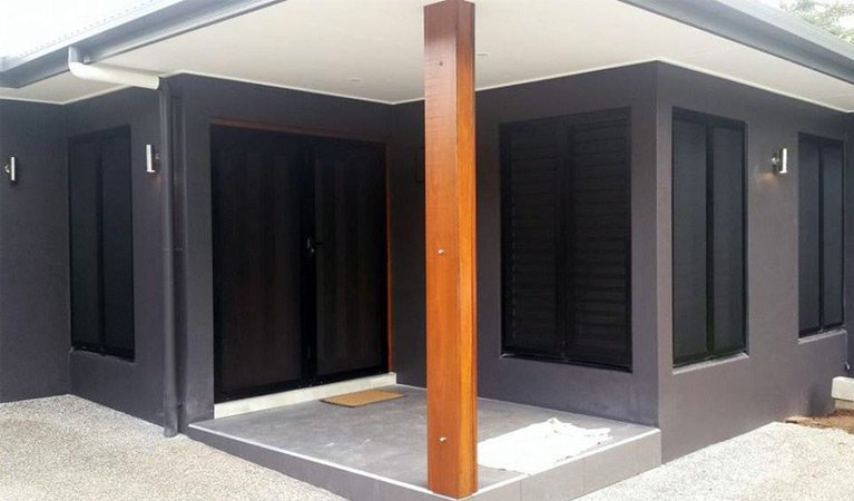 budget home security portico exterior