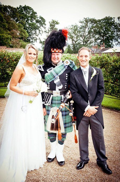 wedding bagpipe for hire