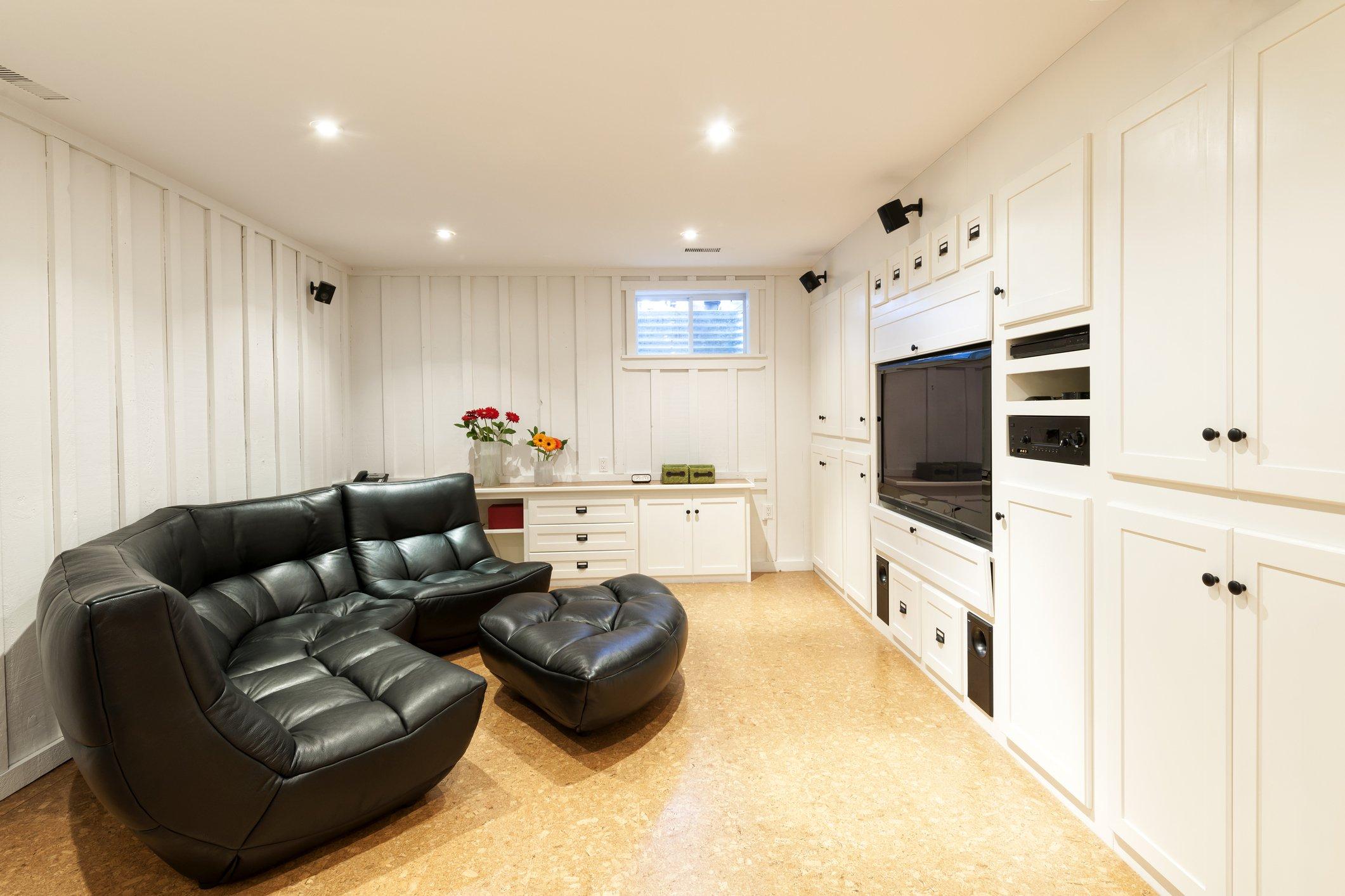 basement that has been waterproofed