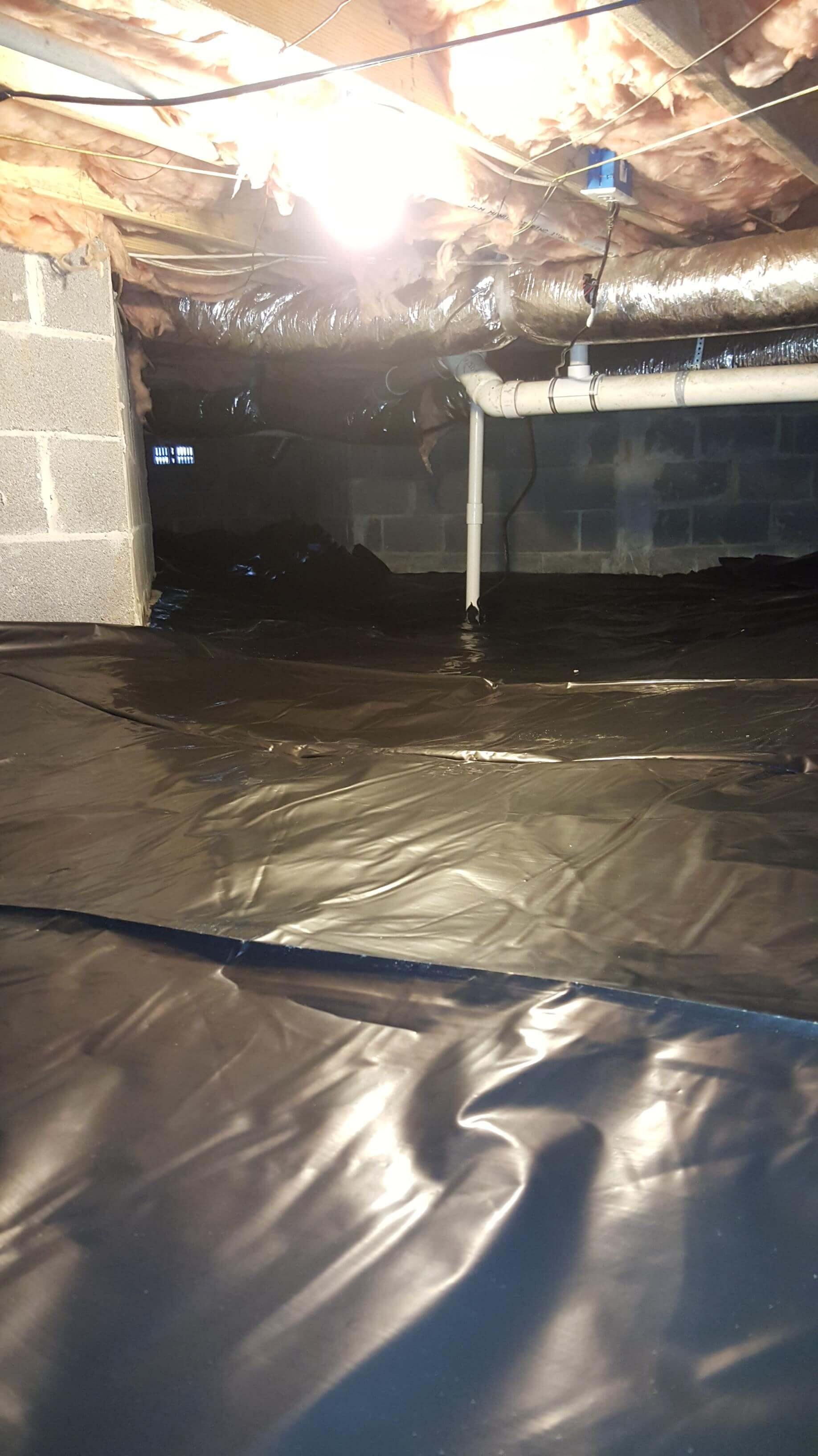 waterproofed crawl space