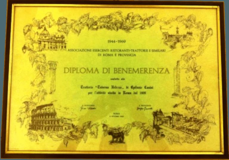 Diploma di Benemerenza