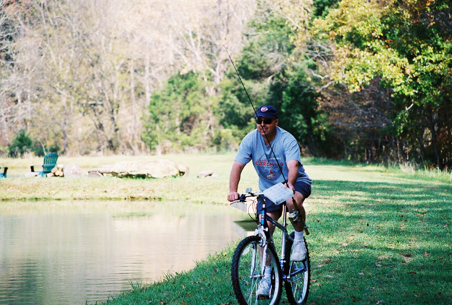 biking around lake at Tennessee lake