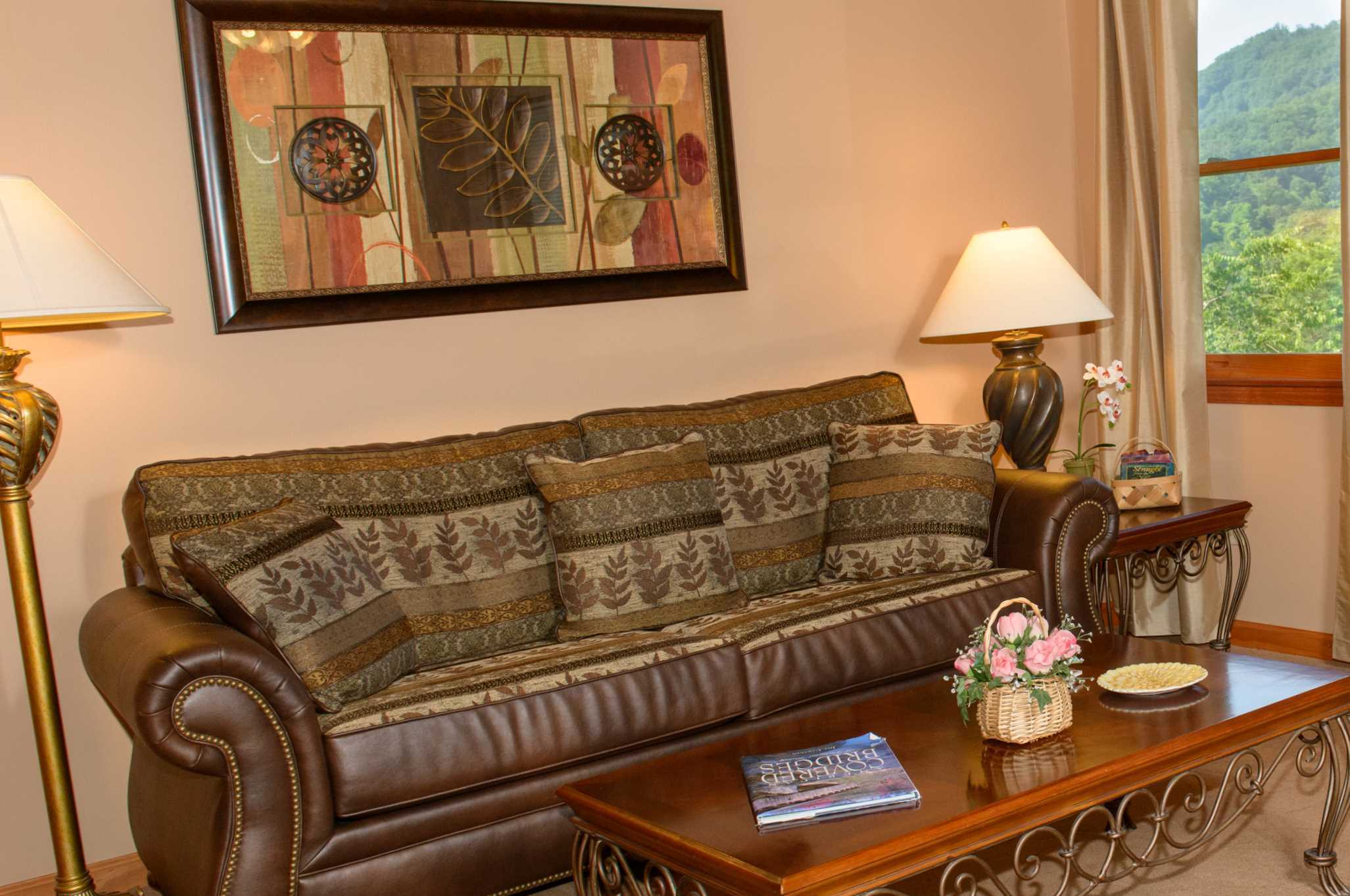 Blackberery Springs  Mountain View Suite Living Room