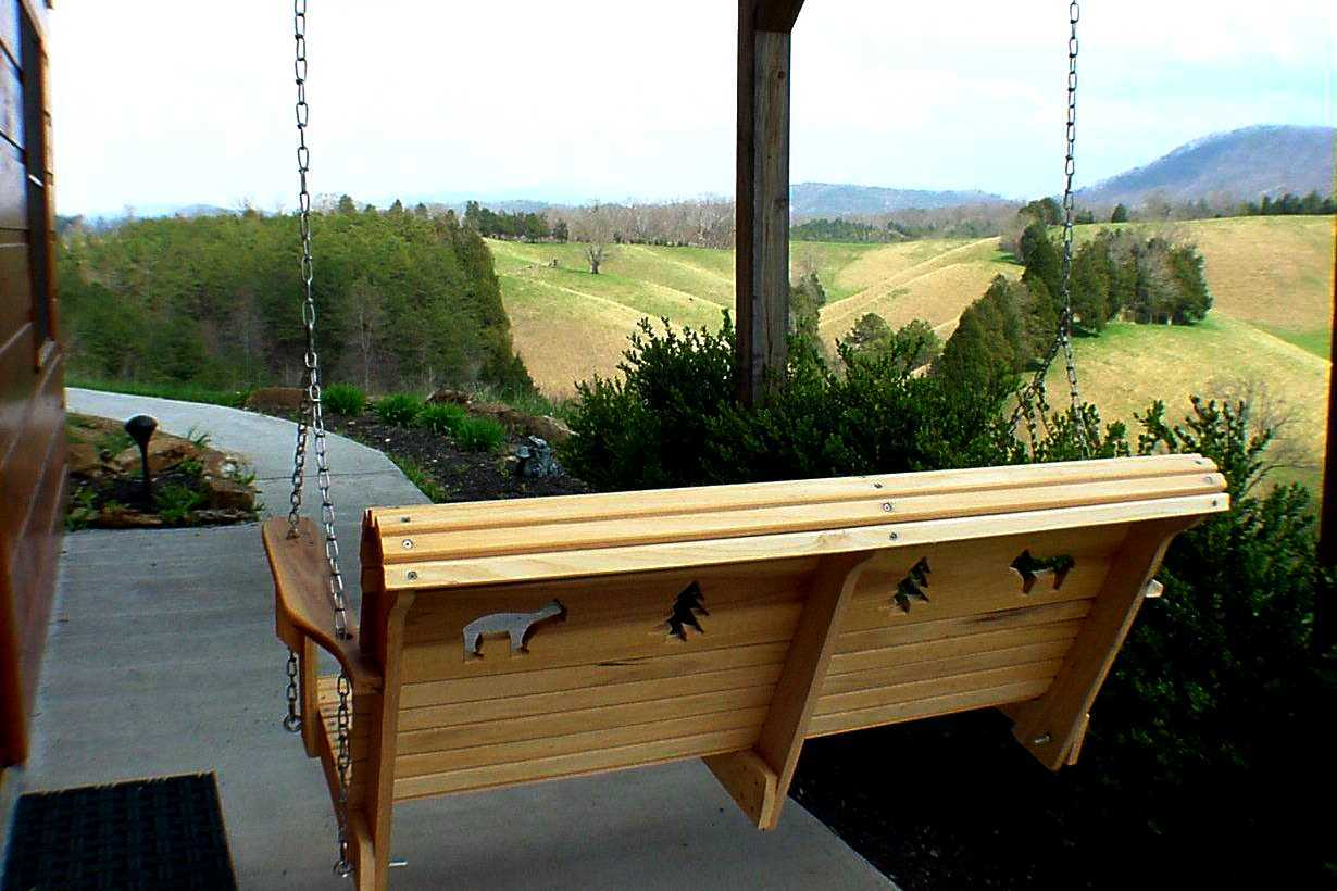 swing on patio