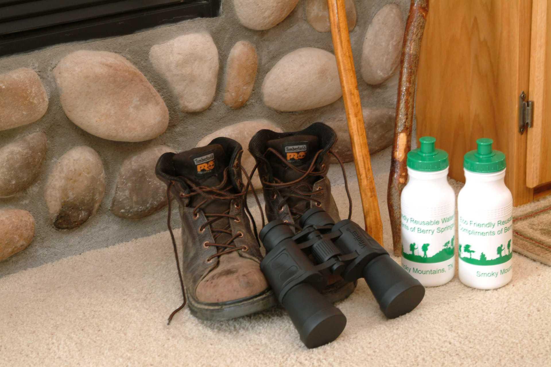 Boots & binoculars in Hideaway