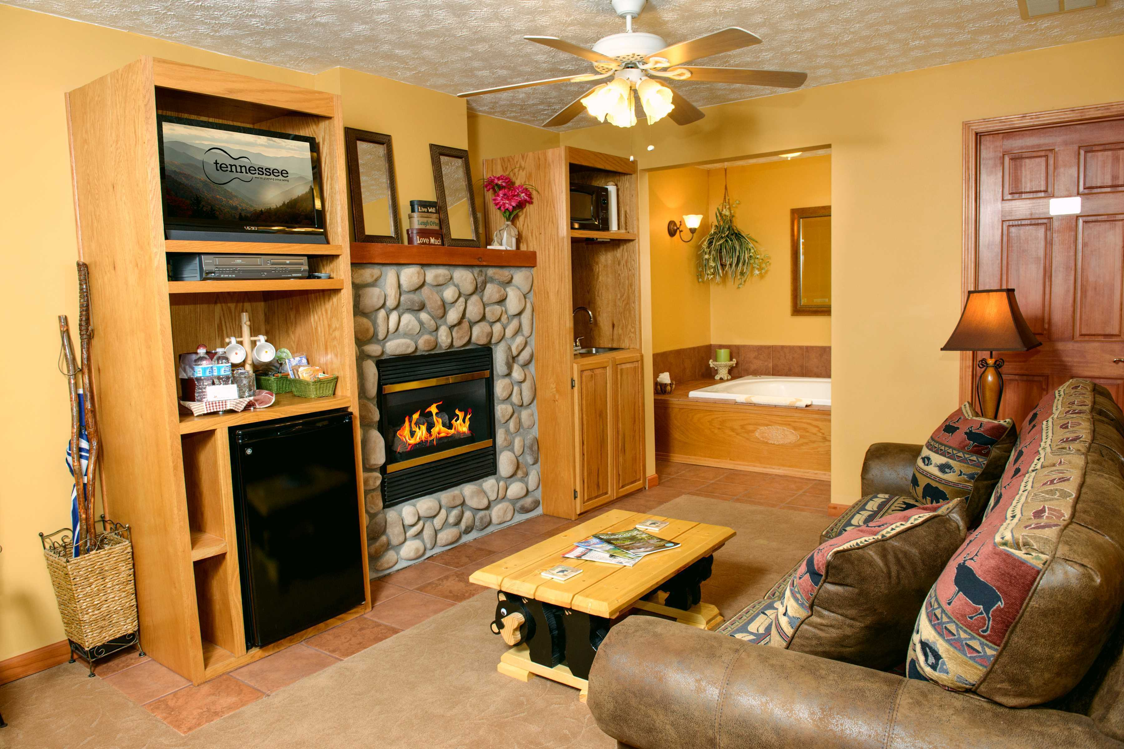 Hideaway Springs  Mountain View Suite Living Room