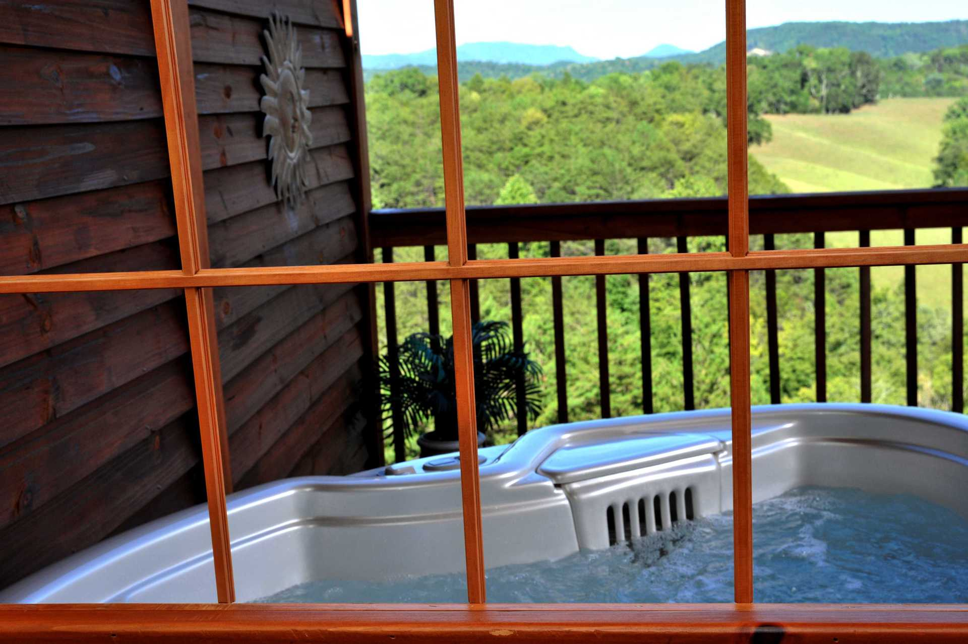 hot tub window view
