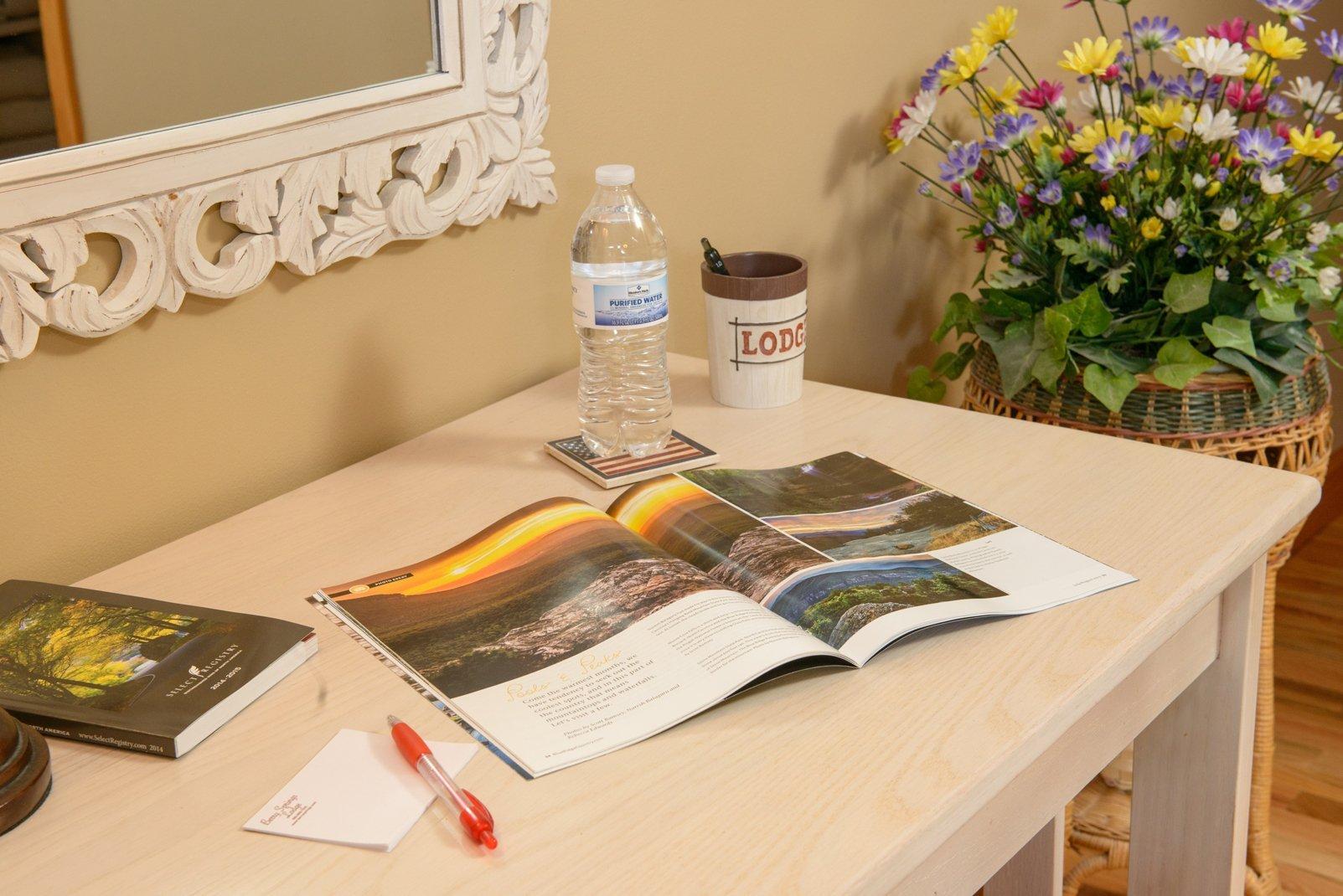 Desk for reading a magazine