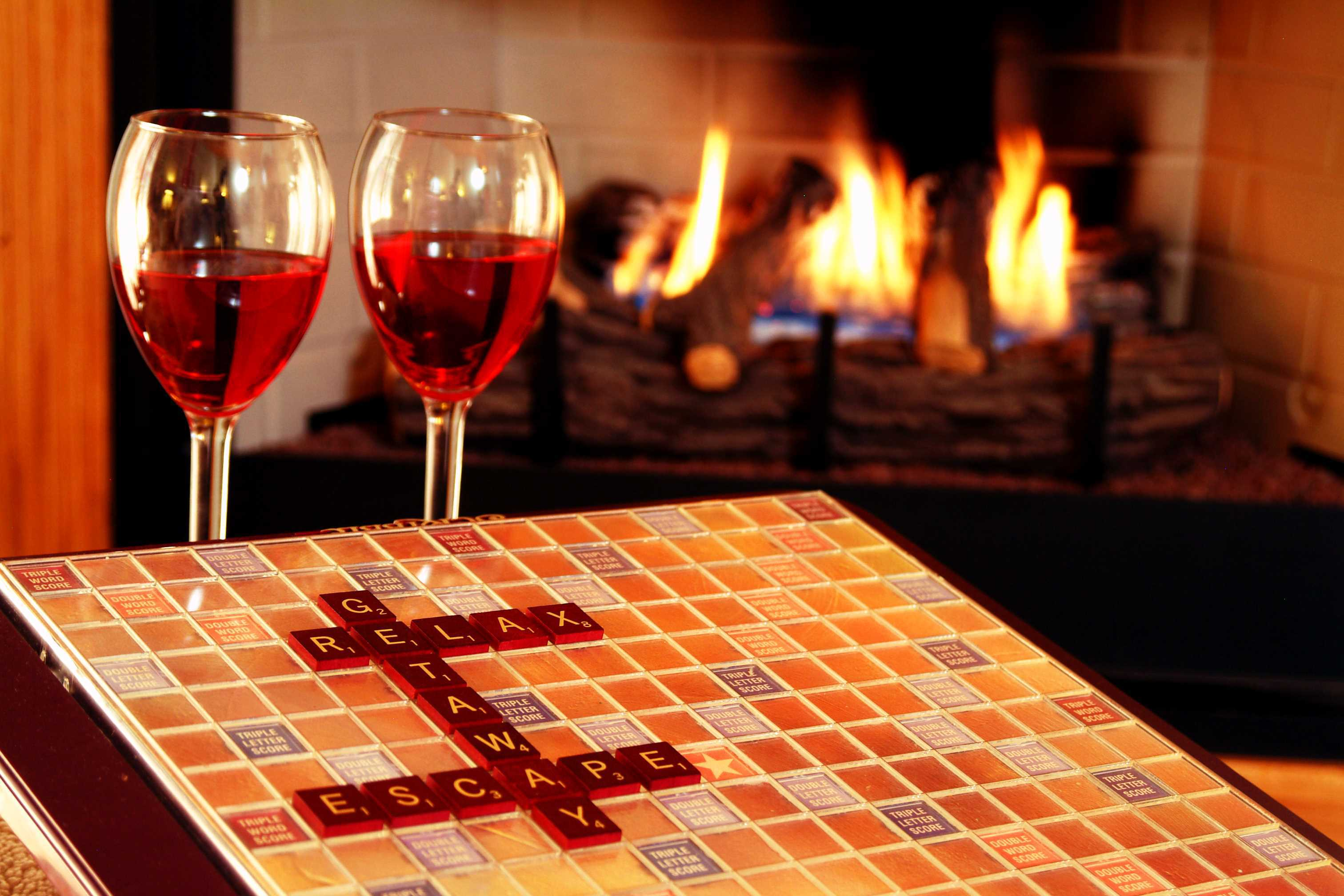 Play Scrable by the fire