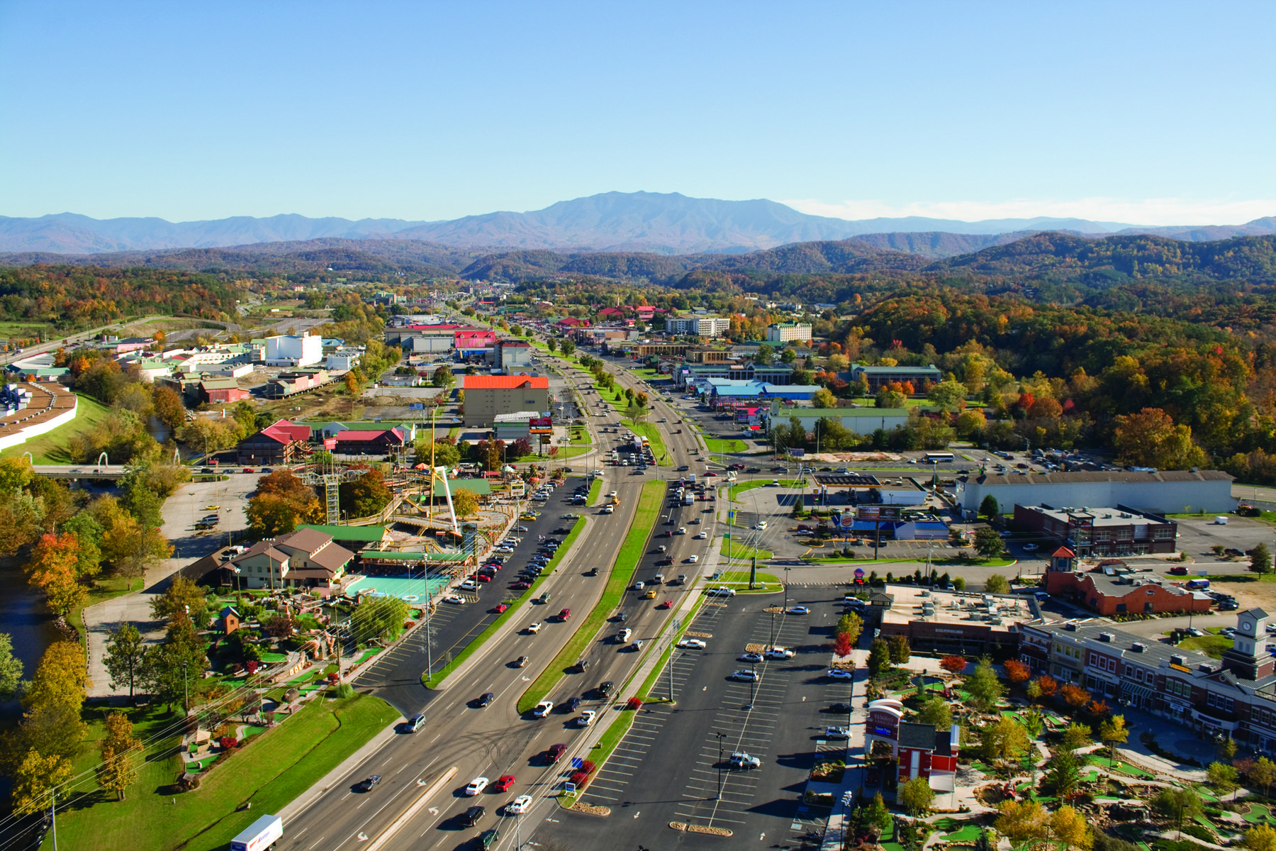 Pigeon Forge Aerial Photo