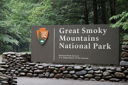 Smoky Mountain National Park entrance