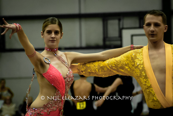 rubies dance centre dancers in pink and yellow costumes