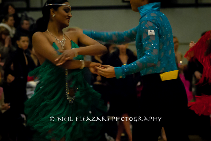 rubies dance centre dancers green and blue costumes