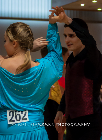 rubies dance centre dancers with light blue and black costumes