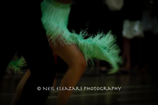 rubies dance centre dancers green focus on a skirt