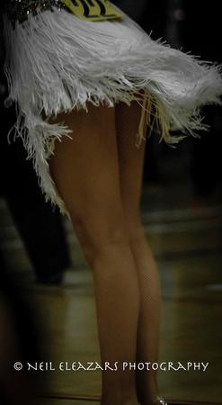 white skirt of a dancing girl