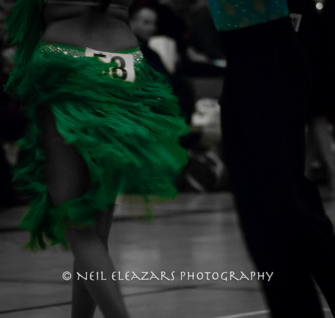 rubies dance centre dancers in black and white with green focus