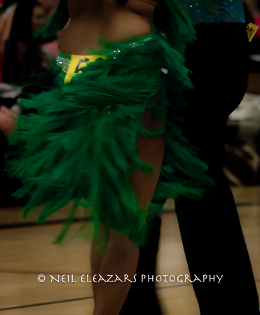 rubies dance centre girl with green costume