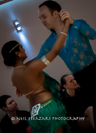 rubies dance centre dancers with green and blue costumes