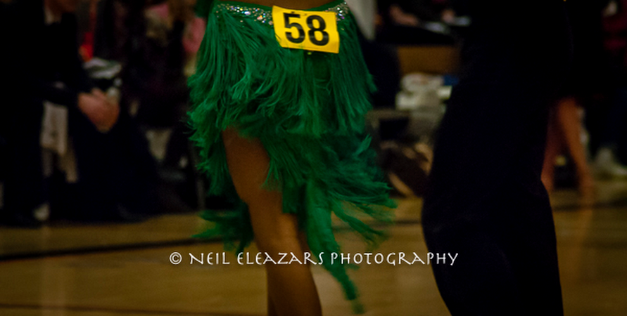 rubies dance centre dancers in green and black costumes