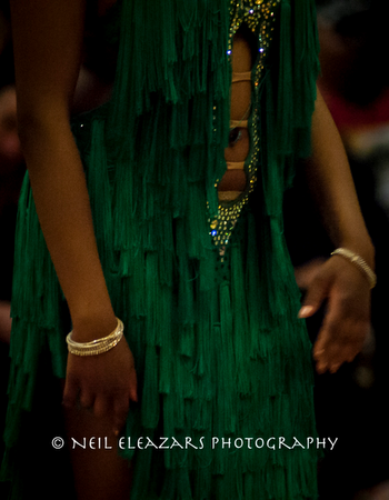 rubies dance centre costume in green