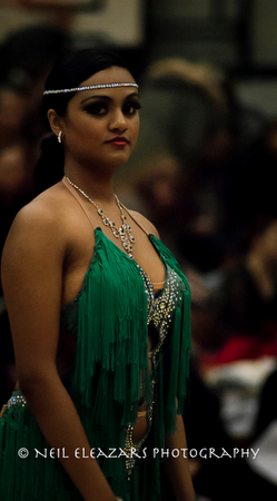 rubies dance centre girl dancer in green