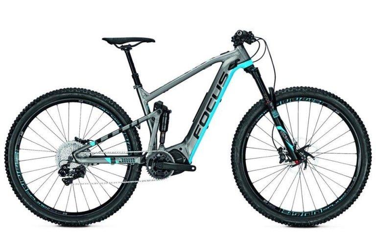 Bicicletta grigia e blu
