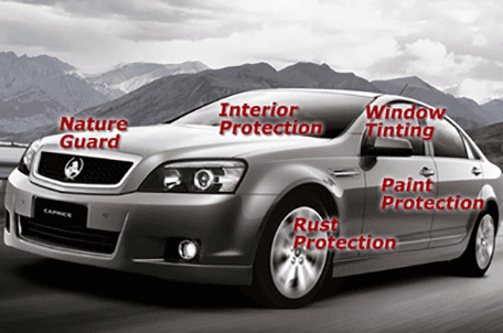Car fitted with nature guard , interior protector and other features