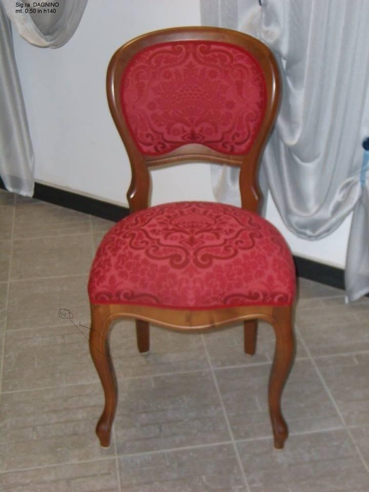 Rivestimento sedia in stoffa