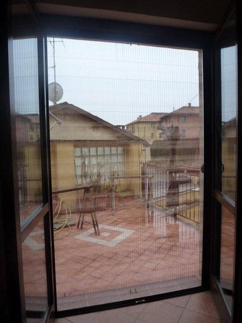 Zanzariera per porta finestra colore marrone rete colore nocciola